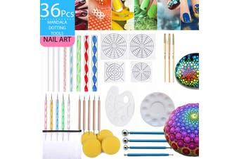 Mandala Dotting Tools Rock Painting Kits Dot nail Art Pen Paint Stencil
