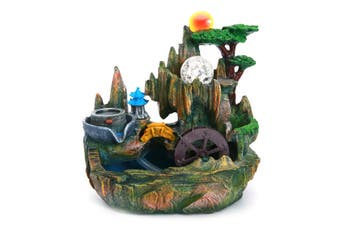 New Mystical Peaceful Indoor Table Bench Top Water Feature Fountain Ornament