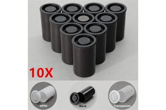 10Pcs Plastic Empty Black White Bottle 54*35mm Film Cans Canister Containers Box(transparent )