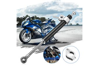 330mm Motorcycle Universal Aluminum Steering Damper Stabilizer Linear Multicolor(black)