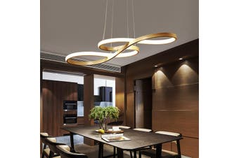 Acrylic LED Pendant Light Chandeliers Ceiling Lamp Bedroom Dimmable Fixture(gold)(Warm White)