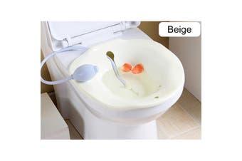 2.5L Portable Bidet Sitz Bath Tub Nursing Basin Kit Sprayer On Toilet(beige)