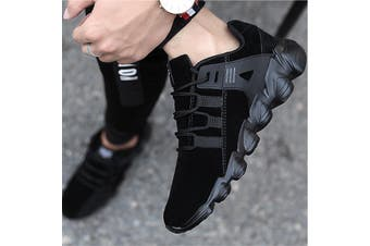 US Men Running Walking Sport Shoes Outdoor Athletic Casual Skatebaord(black)(EU40/US7.5)