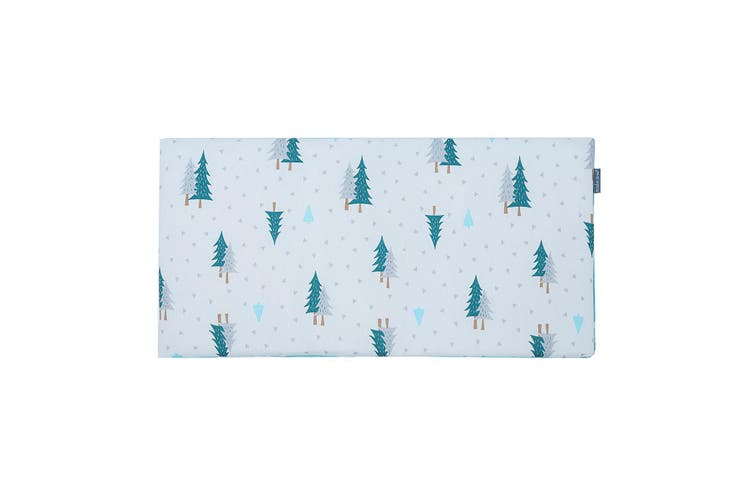 Infant Newborn Crib Bumper Baby Comfy Cushion Pad Nursery Bedding Protector(Green pine)