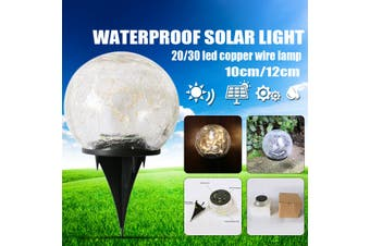 20/30 LED Solar Light Bulb 10/20 cm IP45 Waterproof Underground Light Outdoor Garden Decor Light Warm Yellow Light(10 cm)