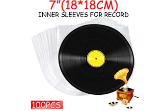 """100 pcs. 7"""" Plastic Vinyl Record SLEEVES COVERS SP Outer ? Clear&Thin!(100 PCS)"""