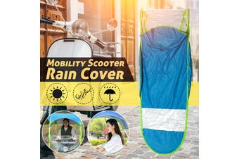 Universal Car Motor Scooter Blue Umbrella Outdoor Mobility Sun Shade Rain Cover