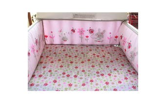 4Pcs Rabbit Baby Infant Cot Crib Bumper Safety Protector Toddler Nursery Set(Mice Pattern)