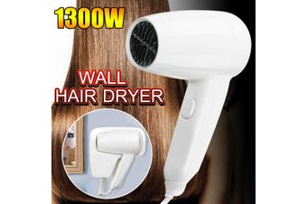 220V 1300W Household Electric Hair Dryer Wall Mounted Blower Home Hotel Washroom(No USB Socket)