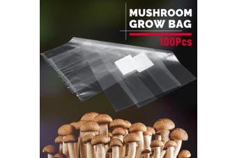 50Pcs PVC Mushroom Spawn Grow Bag Substrate High Temperature Pre Sealable(320x450mm 50Pcs)