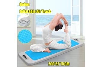 2MX0.62MX0.1M Outdoor Water Sports Inflatable Floating Pontoon Pool DWF Gymnastics Yoga Mats Inflatable Gym Mat(ultramarine)