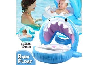 Baby Shark Float Swimming Pool Sunshade Inflatable Kid Children Swim Ring Summer