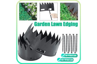 Garden Edging Border Edge Landscape Lawn Flower Bed Landscaping Flexible Plactic(TypeA)