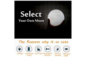 3D Moon Lamp USB LED Night Light 18cm Moonlight Gift Touch Sensor Color Changing Lamp(multicolor)(18 cm)