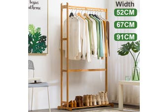 Clothes Cabinet Simple Solid Wood Coat Rack Hanger Floor Bedroom Storage Rack Living Room Clothes Rack