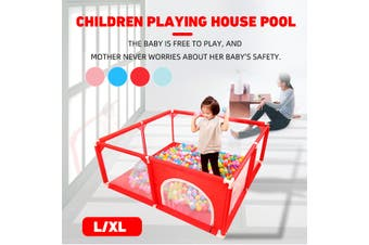L Children Playing House Assembly Indoor Kids Toddler Game Pool Fence Tent(Blue L)