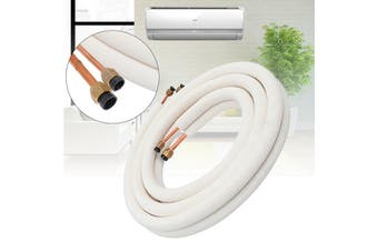 1/4 3/8 7m Air Conditioner Tube Insulated Pair Twin Line Copper Pipes