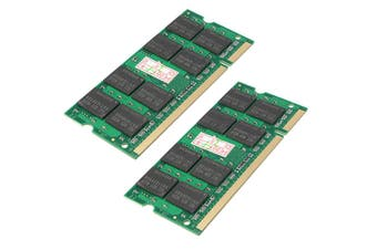 DDR2 800MHz 4GB(2pcsX2GB) Ram PC2-6400 200-Pin 1.8 V CL5 Desktop Memory RAM NON-ECC SODIMM Notebook Laptop Memory Rams(2GB)
