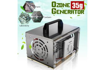 220V Home Indoor O-zone Generator Air Purifier Machine 35000mg/h Mold Mildew Odor