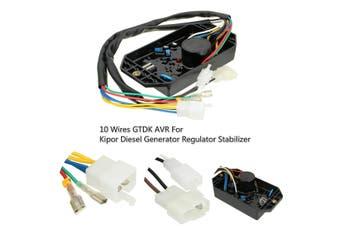 Plastic Black 10 Wires GTDK AVR For Kipor Derv Generator Regulator Stabilizer
