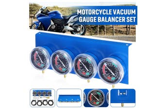 4/2Pcs Motorcycle Carb Carburettor Fuel Vacuum Gauge Balancer 2 / 4 Cylinder Tool Set(4pcs gauges)
