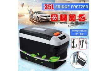 Portable 70W 35L Electric Refrigerator Cooler Food Cool Mini Fridge Freezer LED Display,Car Charge ,Home Travel For Car/Boat/Self-Driving/Camping/Outdoor 12V/24V 220V AU Plug
