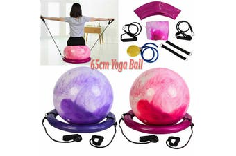 65 Cm Fitness Yoga Ball Anti-Explosion Balance Ball Aerobic Fitness Stability Exercise Balance Yoga Pilates Exercise(red)