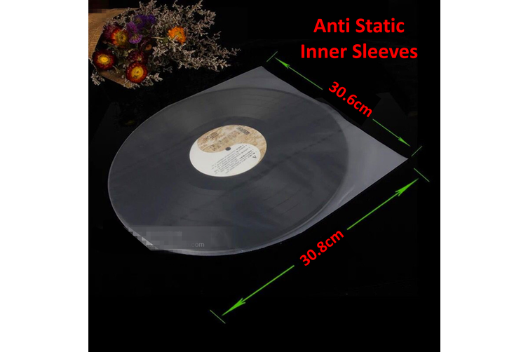 50PCS Antistatic Clear Plastic Cover Inner Sleeves For 12'' LP LD Vinyl Record(50PCS)