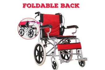 16 INCH Aluminium Transport Folding Wheelchair Light Weight Manual Mobility Aid