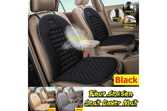 Universal Breathable Seat Cover Mat Comfortable Cushion For Car /Truck /Office(black)(2020 New Upgrade Style)