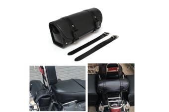 1 Pair Motorcycle PU Leather Saddlebag For Harley Davidson(black)