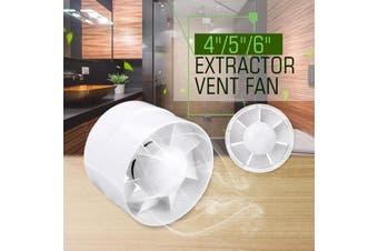 5'' Inline Duct Fan Booster Exhaust Ventilator Ventilation Hydroponic Vent(5 inch)