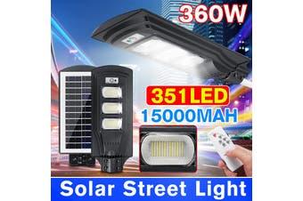 AUGIENB 40W/80W/120W Solar Street Light 20/40/60 LED Solar Lights Outdoor IP67 Waterproof Solar with Motion Sensor Security Light for Yard Garden, Street, Basketball Court, Gutter(360W)