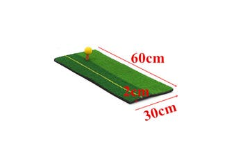 3 Sizes Golf Mat Rubber Tee with 3 Golf Balls Golf Practice Apply for Indoor and Outdoor Golf Training Aids for Beginner(E 30x60x2cm)