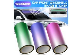 Car Front Windshield Protect Shade Sticker Window Sun Visor Strip Tint Film DIY(purple)(1 pc)
