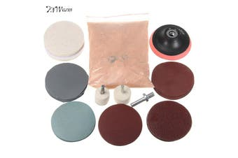3'' Glass Scrach Remover Polishing Kit With Cerium Oxide Powder Auto Watch
