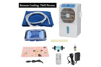 2in1 Air Conditioner Fan Cooler + Water Cooling Bed Ice Pad Mat Mattress Cushion(Remote Controller)