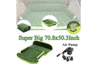 Inflatable SUV Car Mobile Mattress Cushion Extend Travel Camping Air Bed Back Seat(green)