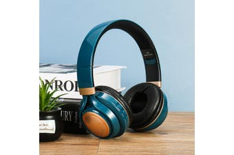 LED Wireless bluetooth Headphone Folding Noise Cancelling Stereo Headset(blue)(newest bluetooth 5.0)
