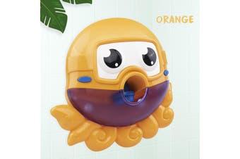 Baby Kids Bubble Octopus Automatic Shower Machine Bubble Maker Bath Music Toy(orange)