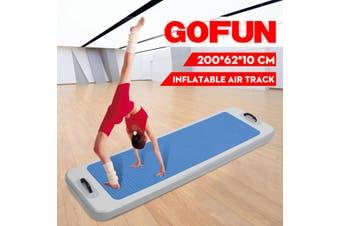 2MX0.62MX0.1M Outdoor Water Sports Inflatable Floating Pontoon Pool DWF Gymnastics Yoga Mats Inflatable Gym Mat(blue)