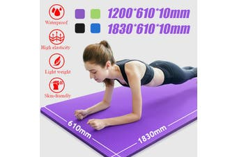 183x61x10cm Yoga Mat Pad Fitness Shockproof Non-slip Exercise Gym Meditation(blue)(183x61cm)