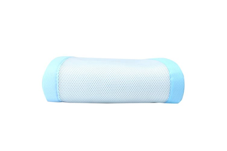 2Pcs Baby Bumper Cot Crib Air Mesh Pad Breathable Nursery Bedding Protective Set #blue(blue)