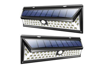 AUGIENB 90 LEDs Solar Light, 400LM Super Bright Outdoor Solar Wall Lights with Motion(90LEDs)