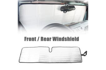 Car Windshield Sunshade Reflective Sun Visor Protection Film For Wrangler Jeep(132cm by 41cm)