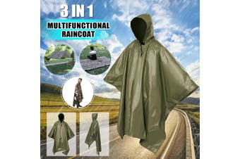 210T 3in1 Outdoor Multifunctional Raincoat Poncho Rain Wear Camping Pad Mat Moisture Waterproof Sunshade Tent Awning(armygreen)(140x220cm/Mat Only)