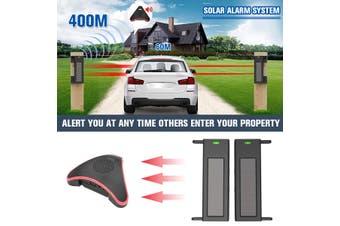 Driveway Alarm Sensor Alert System Wireless Weatherproof Solar Household Security System