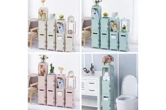 Floor Mounted Waterproof Toilet Side Cabinet PVC Bathroom Storage Rack Bedroom K
