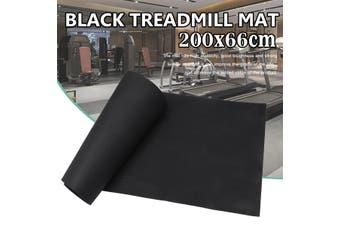 200X66cm Black Exercise Mat Yoga Mat Non-Slip Treadmill Mat For Treadmill Bike or The Other Floor Exercises Floor Protector Pad Home Gym Fitness Equipment