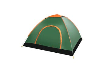 3-4 People Full-automatic Tent an Automatic Instant Portable Camping Tent - Doors on Both Sides - Anti-Mosquito-Water-Resistant & UV Protection Sun Shelter(darkgreen)